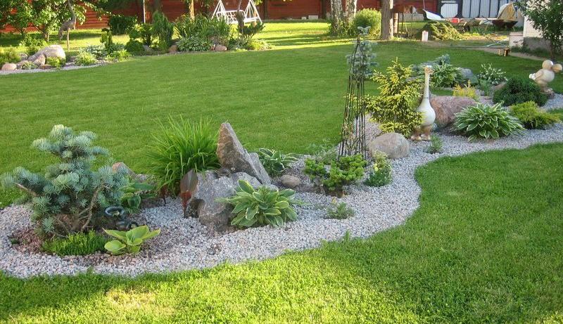 Камень как один из элементов украшения сада