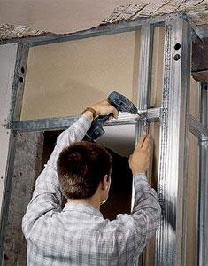 Возведение внутренних стен из гипсокартона