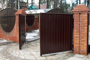 Въездные ворота для частного дома