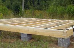 Строим каркасный дом на столбчатом фундаменте