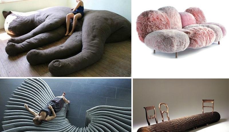 Необычные диваны: красиво лежать не запретишь