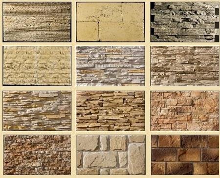 Виды декоративного камня для внутренней отделки
