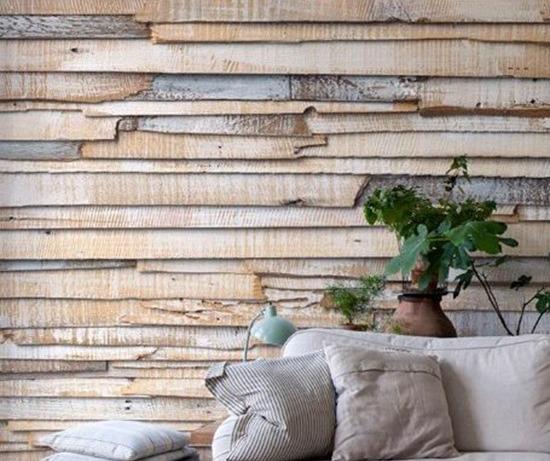 Отделка стен деревом: натуральный шик
