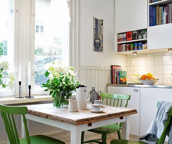 Как разместить обеденный стол на кухне
