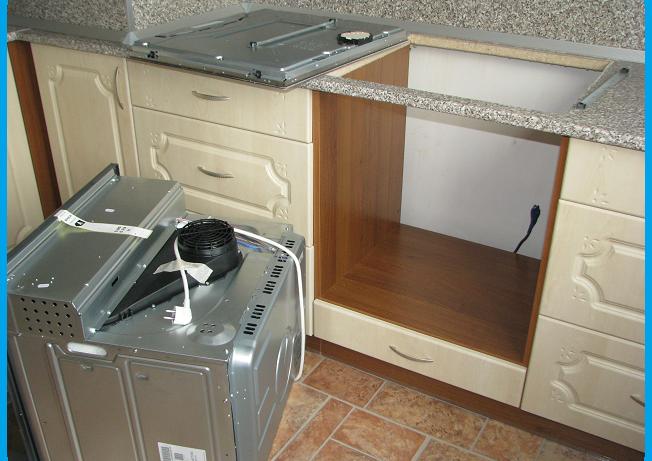 Где установить духовой шкаф на кухне?