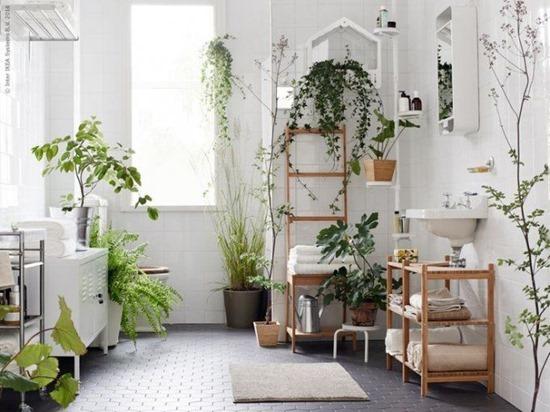 Стиль эко в дизайне интерьера ванной