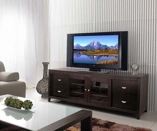 Тумбы под телевизоры в интерьере современных гостиных