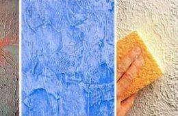 Фактурные краски для стен: как пользоваться?