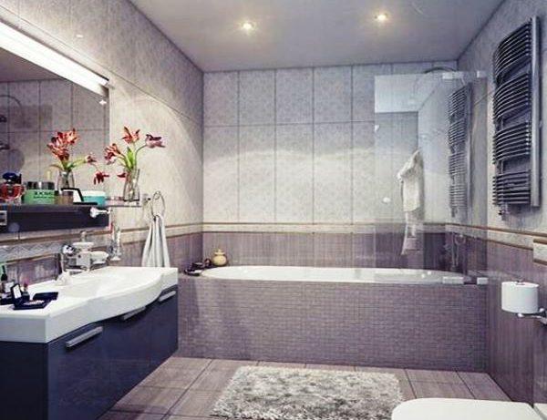 Выбираем цвет и размеры плитки для маленькой ванной