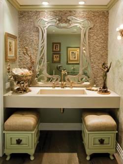 Дизайн ванной комнаты в стиле арт-нуво