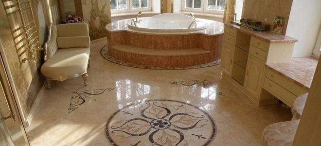 Пол в ванной — виды покрытия и лучшие цветовые решения