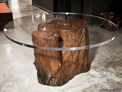 Мебель из пней или эко — дизайн своими руками