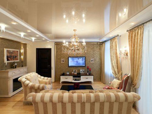 Выбираем варианты освещение для квартиры с натяжным потолком