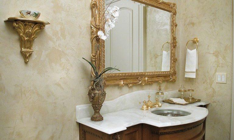Специфика применения декоративной штукатурки в ванной комнате