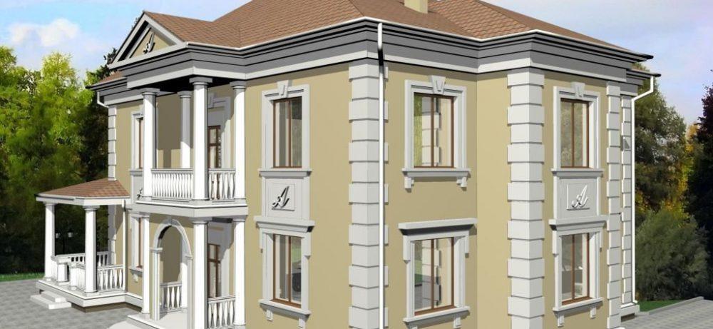 Фасад из пенопласта