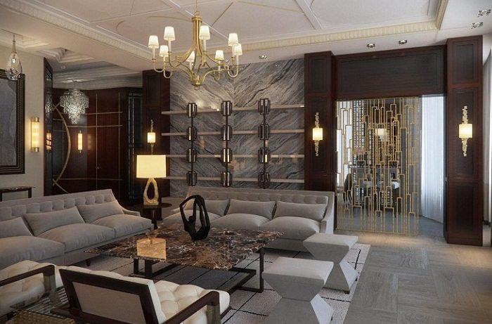 Особенности освещения в гостиной