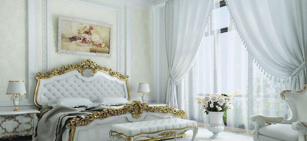 Классика — стиль спальной комнаты