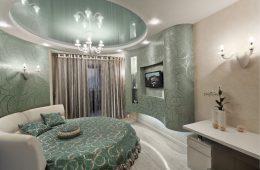 Дизайн спальни с круглой кроватью