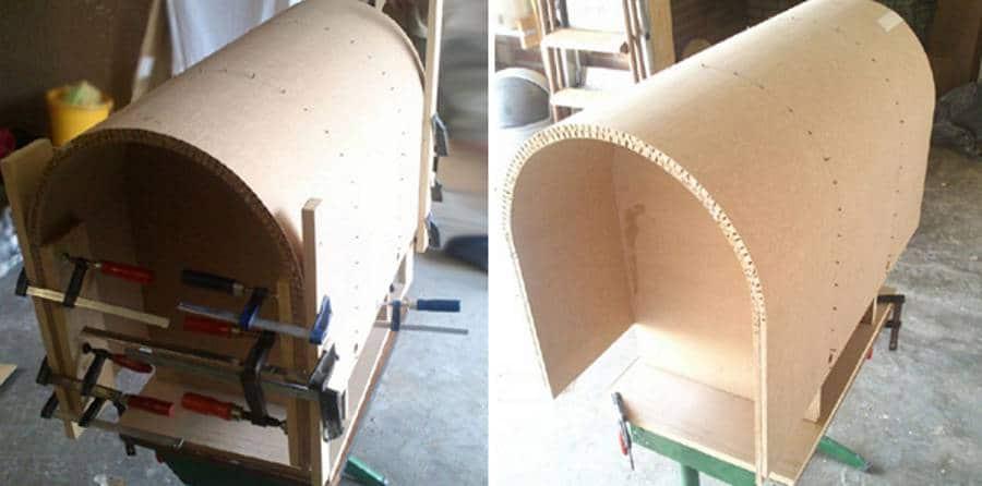 Как сделать гнутый фасад