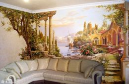 Роспись стен — акцент модного дизайна