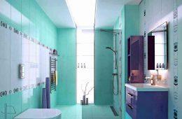 Варианты дизайна лазурной ванной комнаты