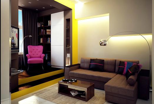 Варианты дизайна интерьера квартиры-студии