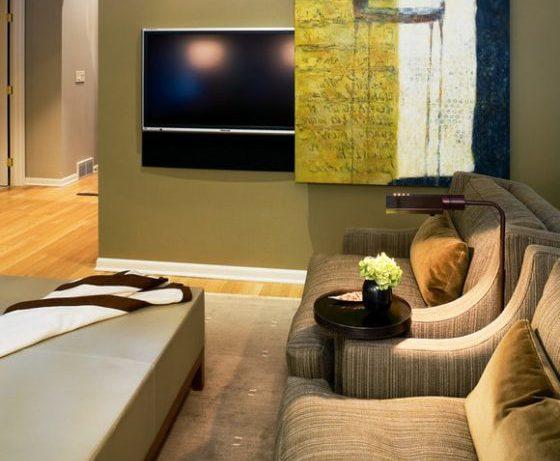 Как спрятать телевизор в интерьере?