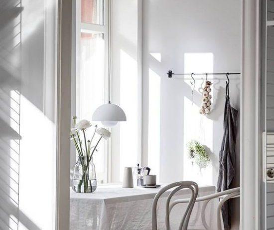 Скандинавский минимализм в интерьере кухни