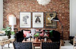 Использование стены из кирпича в дизайне интерьеров