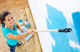 Как правильно окрасить стены в комнате?