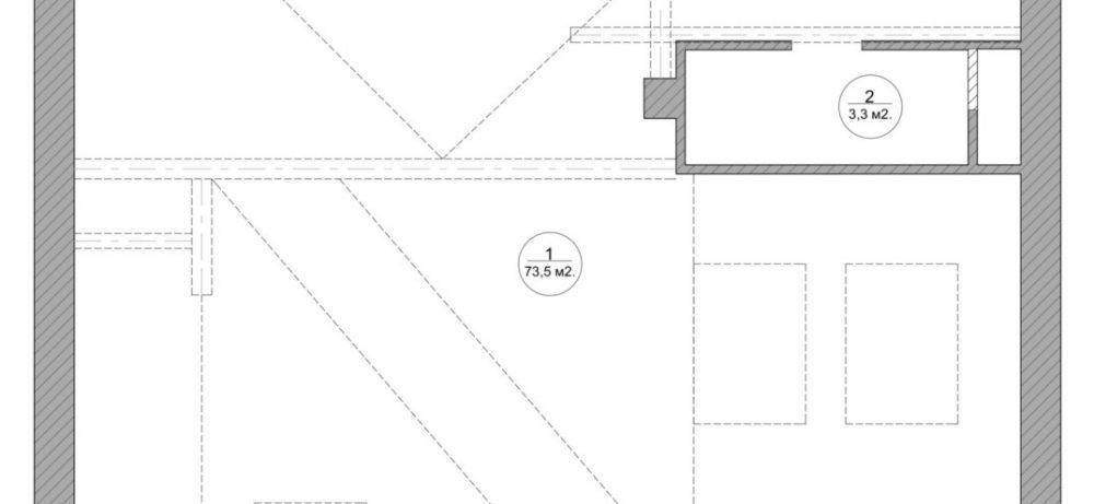 Интерьер квартиры-студии, которая находится в мансарде