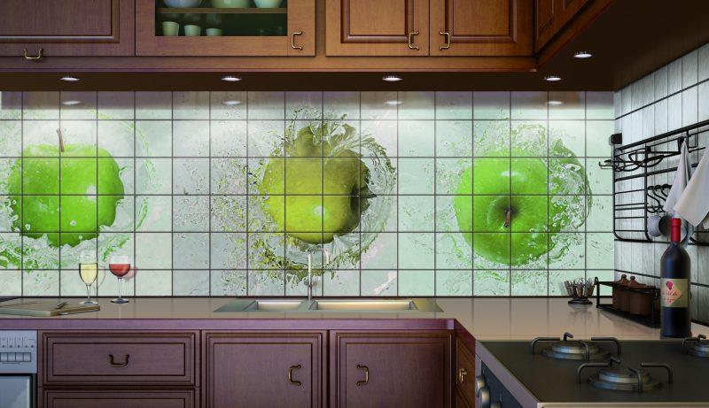 Изготовление кухонного фартука с применением кафельной плитки