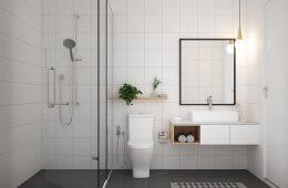 Визуальное расширение ванной небольшого размера