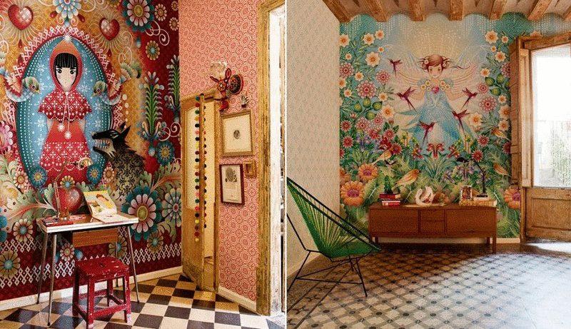 Квартира в центре Мадрида — вызов стилю «а ля рюс»
