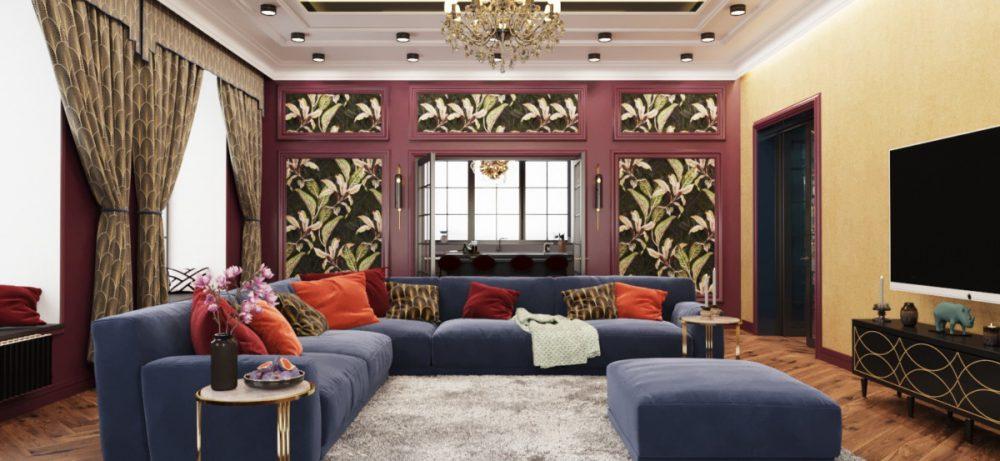 Дом мечты с роскошной кухней и волшебной гостиной