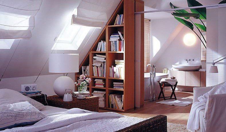 Геометрия мансардного потолка — как красиво его оформить