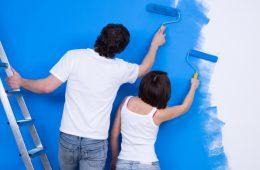Наклейка и покраска флизелиновых обоев
