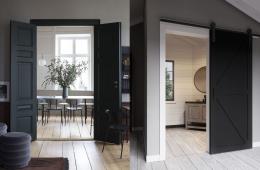 Тёмные двери в интерьере: актуальное решение