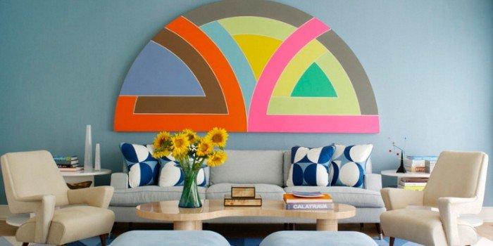 Современное искусство: интерьер в стиле color block