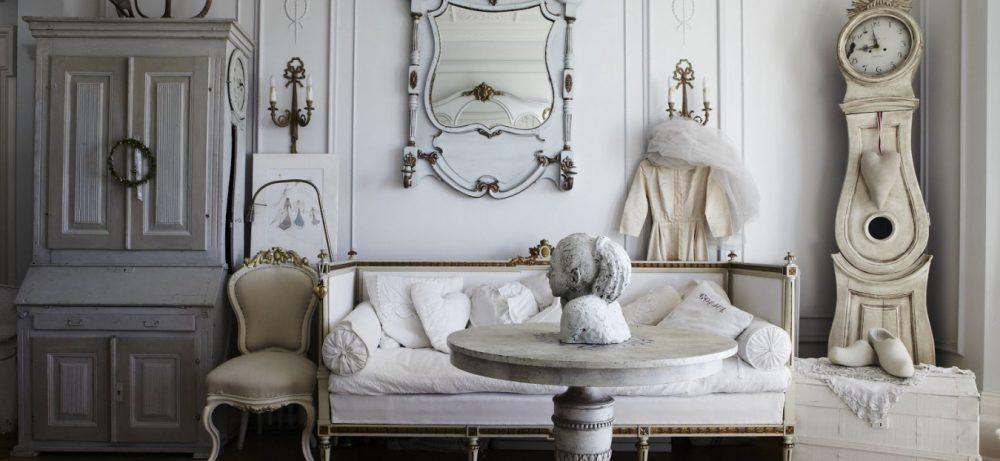 Романтичный интерьер в стиле shabby chic