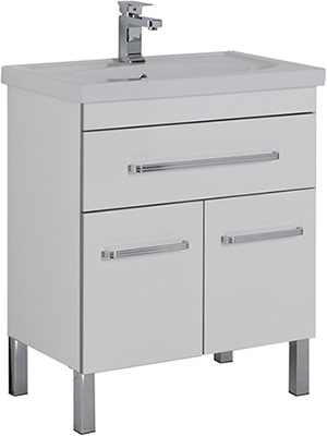 Мебель для ванной: материалы изготовления и покрытия