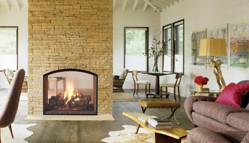 Интерьер гостиной с камином в частном доме: варианты оформления
