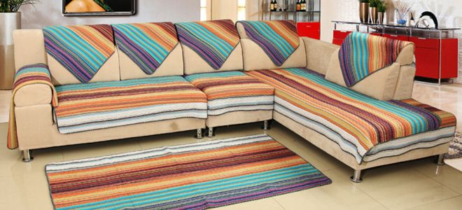 Покрывало на диван — красиво и практично